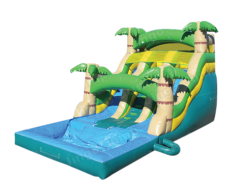 17′ Dual Lane Tropical Waterslide