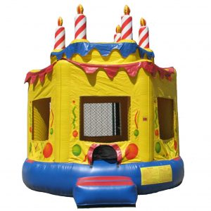 Birthday Cake 15′ Round Bounce House