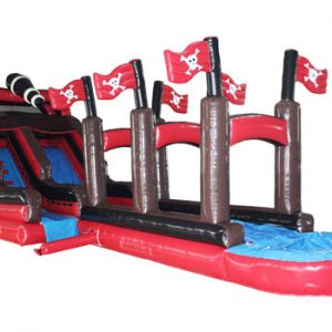 18′ pirate ship waterslide with slip'n'dip