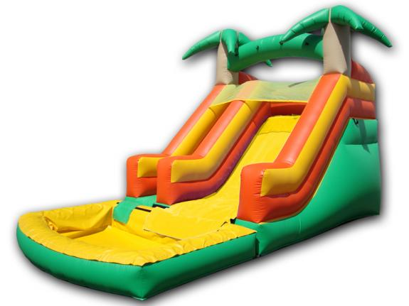 15′ Compact Tropical Water Slide