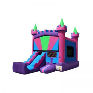 4-in-1 Princess Jr. Combo with slide and basketball hoop