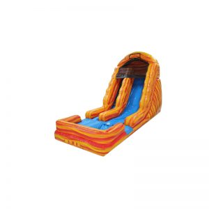 18' Orange Marble Waterslide