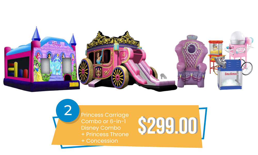 Special #2 - Princess Carriage Combo or Disney Princess 6in1 & Princess Throne & Concession $299