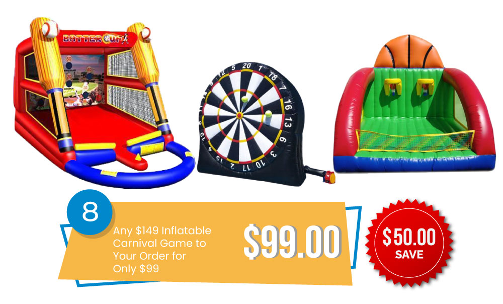 Special #8 - Add Any $149 Inflatable Carnival Game to Your Order for Only $99