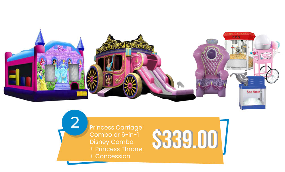 Special #2 - Princess Carriage Combo or Disney Princess 6in1 & Princess Throne & Concession $339