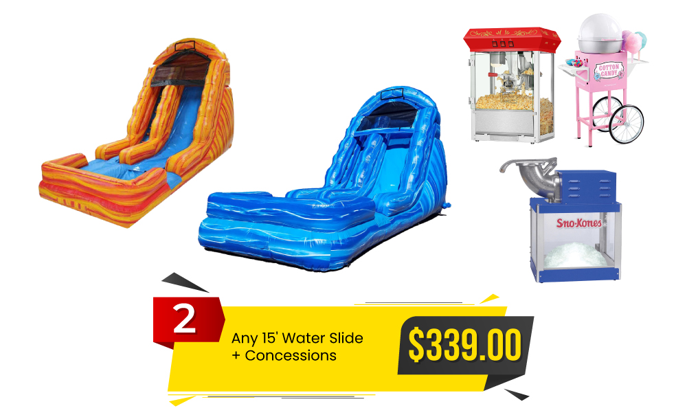 Special #2 - Any 15' Water Slide & Concessions for $339