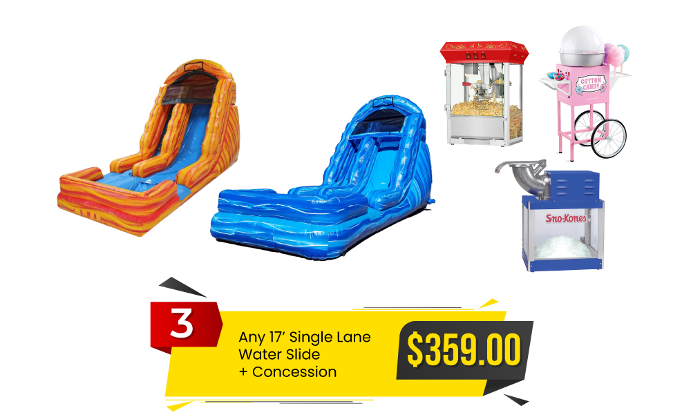 Special #3 - Any 17' Single Lane Water Slide & Concession for $359