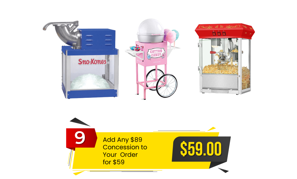 Special #9 – Add an $89 Concession to Your Order for $59, Save $30