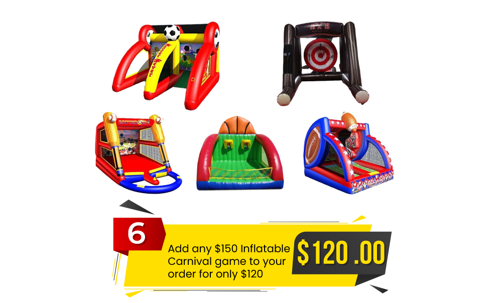 Special #6 - Add Any $150 Inflatable Carnival Game to Your Order for Only $120