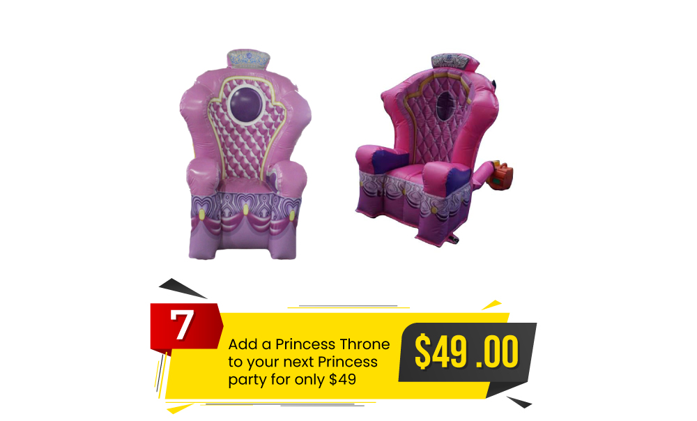 Special #7 - Add A Princess Throne to Your Next Princess Party for Only $49